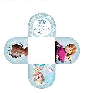 Arte para forminha personalizada para doces Frozen com foto