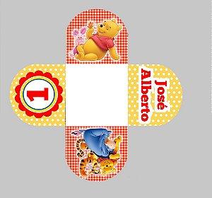 Arte para forminha personalizada para doces Ursinho Pooh