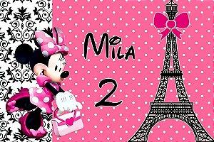 Arte para imã personalizado Minie em Paris