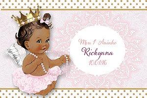 Arte para imã personalizado Anjinha Princesa