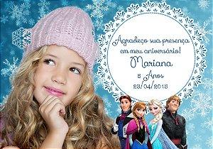 Arte para imã personalizado Frozen com foto