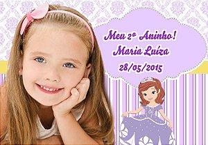 Arte para imã personalizado Princesa Sofia com foto