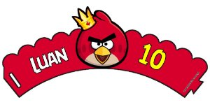 Arte para wrapper (saia) personalizado para Cupcakes Angry Birds