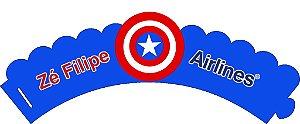 Arte para wrapper (saia) personalizado para Cupcakes Aviador