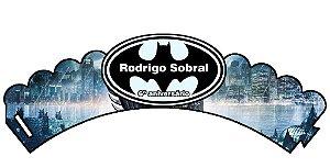 Arte para wrapper (saia) personalizado para Cupcakes Batman