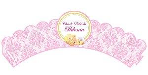 Arte para wrapper (saia) personalizado para Cupcakes Chá de Bebe Menina
