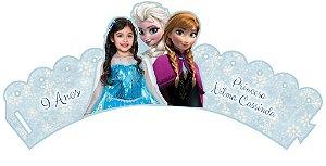 Arte para wrapper (saia) personalizado para Cupcakes Frozen com foto