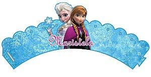 Arte para wrapper (saia) personalizado para Cupcakes Frozen
