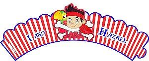 Arte para wrapper (saia) personalizado para Cupcakes Jake e os Piratas Terra do Nunca