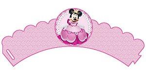 Arte para conjunto 3 wrappers (saias) para Cupcakes personalizados da Minnie Princesa