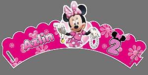Arte para wrapper (saia) personalizado para Cupcakes Minnie Rosa