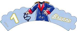 Arte para conjunto de wrapper (saia) para cupcake e topper personalizado do  Pequeno Príncipe