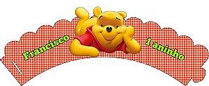 Arte para wrapper (saia) personalizado para Cupcakes Ursinho Pooh