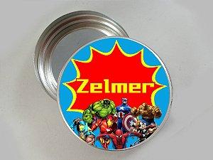 Arte para latinha de aluminio personalizada super herois