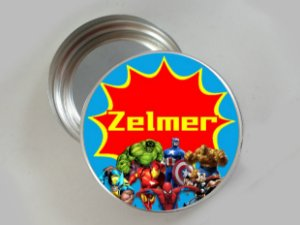 Embalagem com 20 adesivos Super Herois