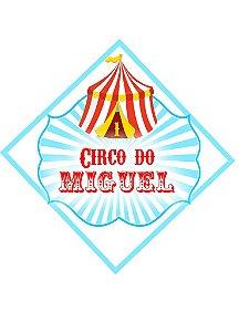 Arte para tag triangular personalizada Circo