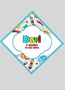 Arte para tag triangular personalizada Carnaval