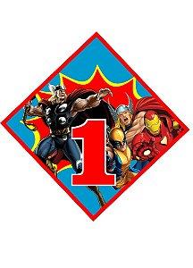 Arte para tag triangular personalizada Super Herois