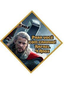 Tag personalizada em losango Vingadores
