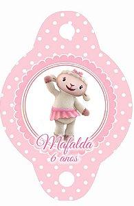 Arte para tag de canudinho personalizada Doutora Brinquedos