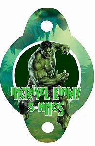 Arte para tag de canudinho personalizada O Incrível Hulk