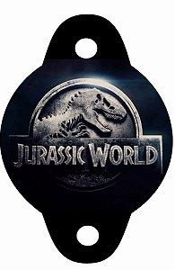 Arte para tag de canudinho personalizada Jurassic Word