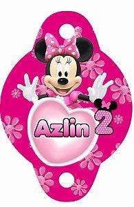 Tag para canudinho personalizada Minnie