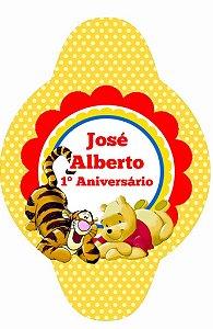 Tag para canudinho personalizada Ursinho Pooh