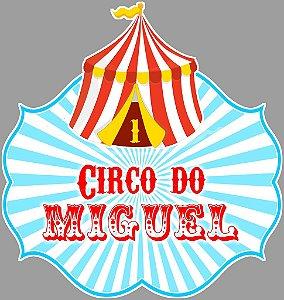 Arte para placa de mesa personalizada recortada Circo