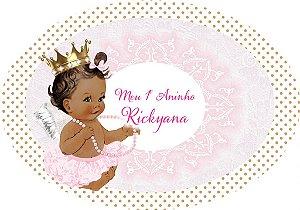 Arte para placa de mesa personalizada Anjinha Princesa