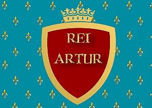 Arte para placa de mesa personalizada Rei Arthur