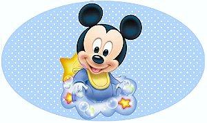 Arte para placa de banheiro masculino Baby Disney