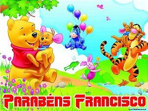 Banner ou Painel personalizado Ursinho Pooh