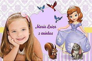 Banner ou Painel personalizado Princesa Sofia com foto