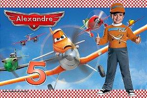 Banner ou Painel personalizado Aviões da Disney com foto