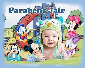 Banner ou Painel personalizado Baby Disney com foto