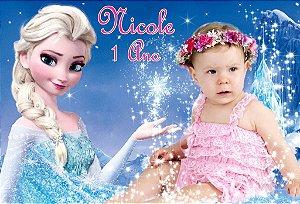 Banner ou Painel personalizado Frozen com foto