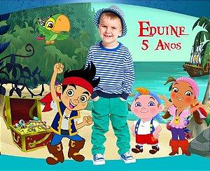 Banner ou Painel personalizado  Jake e os Piratas Terra do Nunca com foto