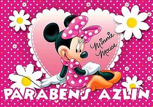 Banner ou Painel personalizado Minnie Rosa
