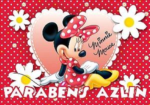 Banner ou Painel personalizado Minnie Vermelha