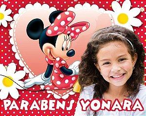 Banner ou Painel personalizado Minnie Vermelha com foto