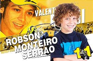 Banner ou Painel personalizado Valentino Rossi com foto