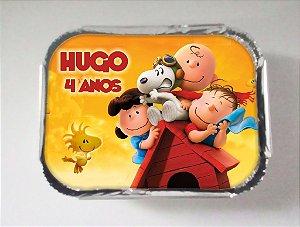 Arte para marmitinha personalizada Snoopy e Charlie Brown