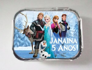 Tampa para marmitinha personalizada Frozen