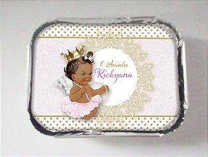 Tampa para marmitinha personalizada anjinha princesa