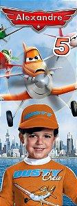Arte para marcador de livro Aviões da Disney com foto