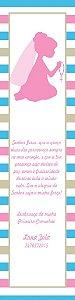 Arte para marcador de livro Comunhão menina