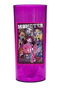 Arte para adesivo de copo personalizado Monster High para meninas