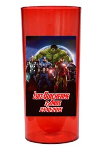 Adesivo de copo personalizado Vingadores