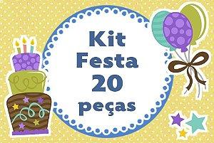 Kit personalizado no tema que desejar com 20 peças